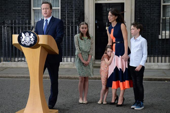 Премьер-министр Великобритании Дэвид Кэмерон объявляет о своей отставке, 13 июля Фото: Oli Scarff / AFP / Scanpix / LETA