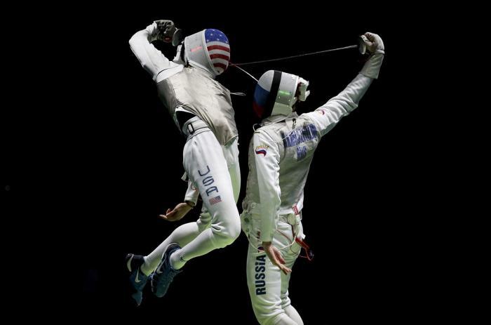 Полуфинальный матч по фехтованию на Олимпиаде в Рио, 12 августа Фото: Issei Kato / Reuters / Scanpix / LETA