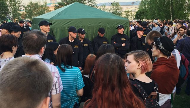 Столкновения противников и сторонников строительства храма в Екатеринбурге