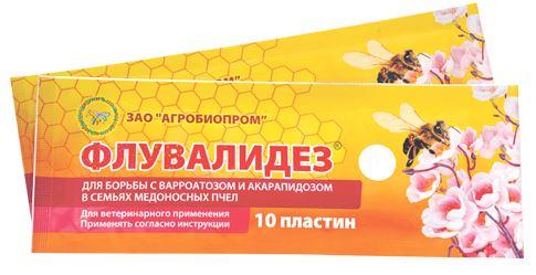 препарат флувалидез для борьбы с варроатозом и акарапидозом пчел