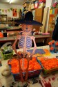 Dancing screen printed skeleton puppet
