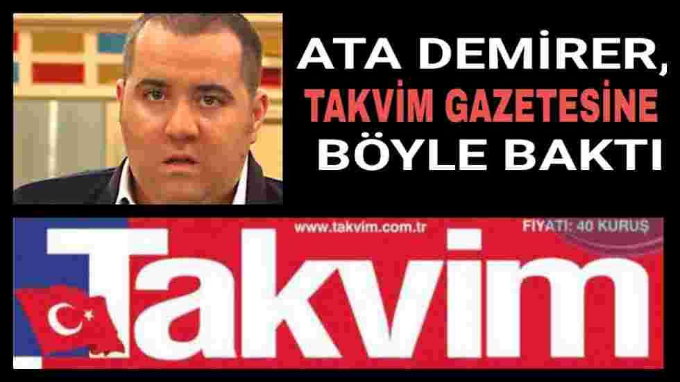 Ata Demirer Takvim Gazetesi