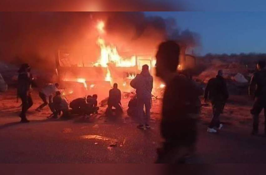 Counter claims as ISIS kills dozens of people on Syrian regime busses.