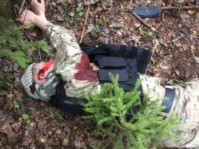 Zabitý ukrajinský gardista z diverzno rozviednej skupiny foto: prokuratúra LNR