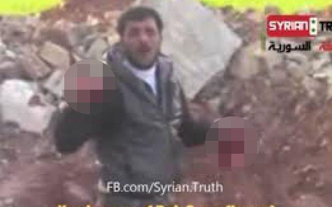 Abu Sakkar pojedá vnútornosti sýrskeho vojaka