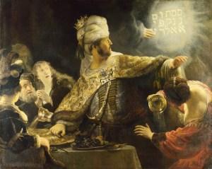 Rembrandt, Baltazárove hody (1635), Národná galéria, Londýn