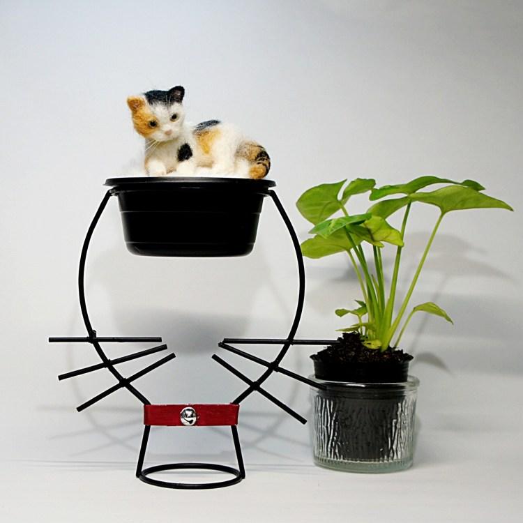 三毛猫 羊毛フェルト Calico cat