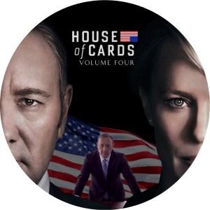 大ヒットドラマ「ハウス・オブ・カードseason 4」のDVDラベルです