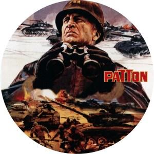 1970年公開の映画「パットン大戦車軍団」のDVDラベルです