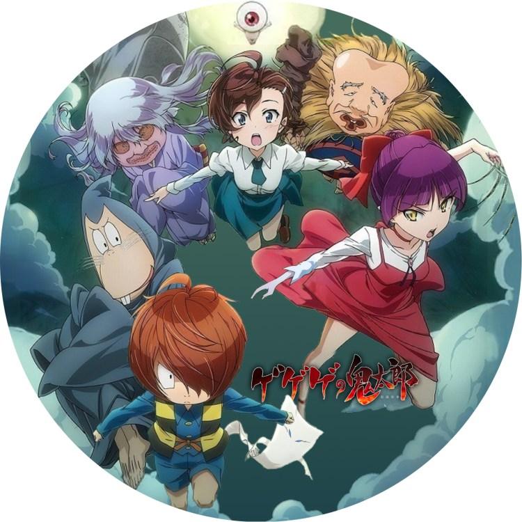 アニメ「ゲゲゲの鬼太郎 第6シリーズ」のDVDラベルです