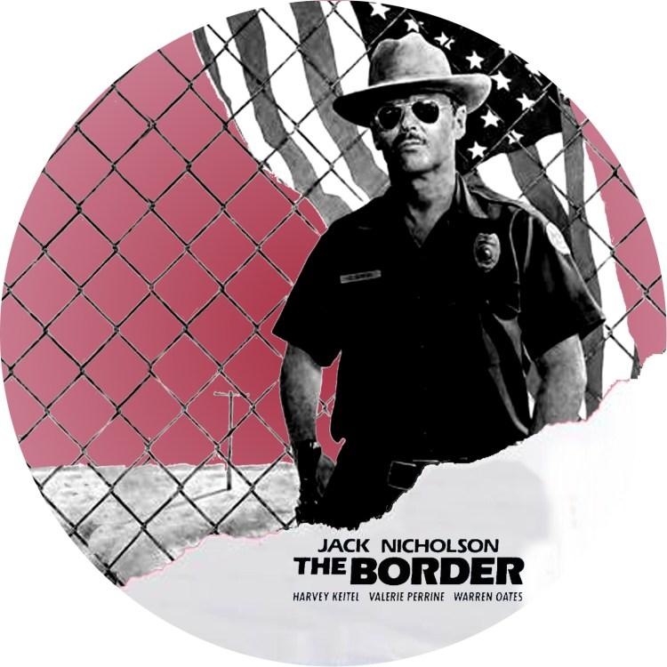 ジャック・ニコルソン主演,1981年公開の映画「ボーダー」のDVDラベルです