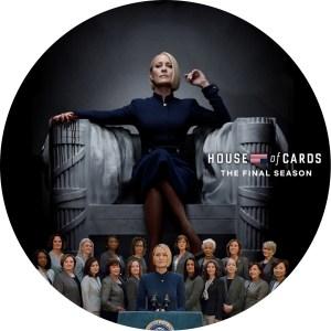 「ハウス・オブ・カード」ファイナルシーズンのDVDラベルです