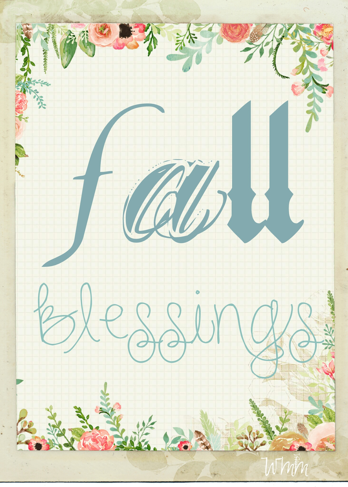 Free Fall Blessing Printable