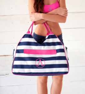 Prep Stripe Beach Bag