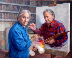 painting paints the artist