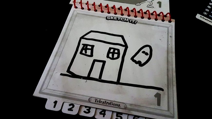 A ghost drawn beside a house