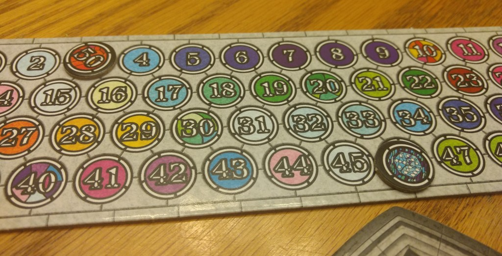 My token is on 46 points, score to beat is 53