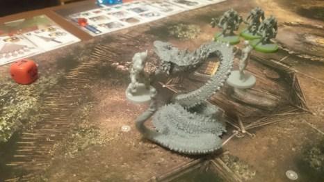 Conan faces a giant snake...