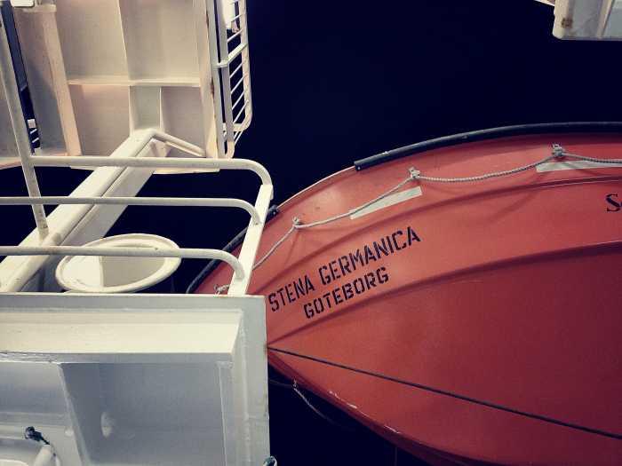 Rettungsboot an Bord