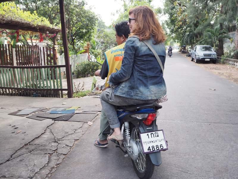 Motorradtaxi in Bangkok