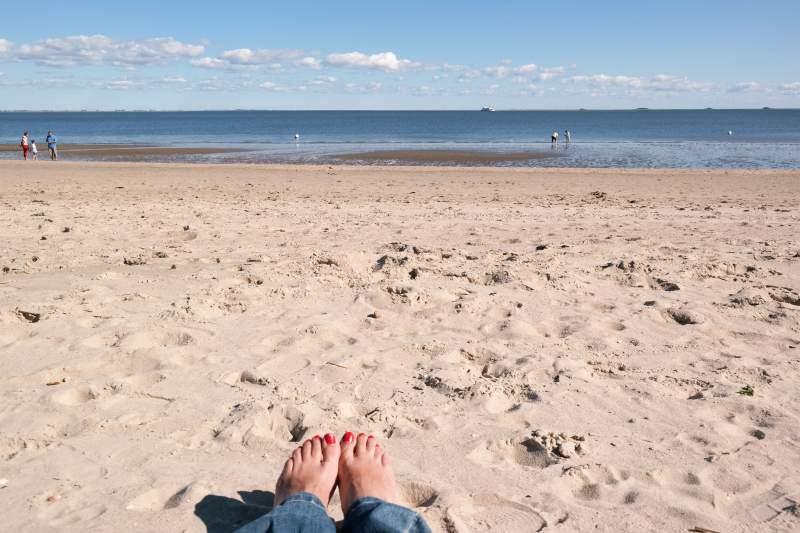 Am Strand in Wyk