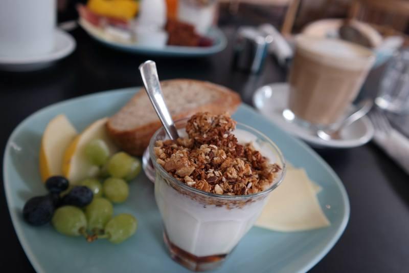 Frühstück im Designcafeen