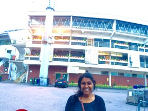 In front of Lord's Stadium in London