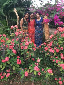 Posing with cousins in Tirupati