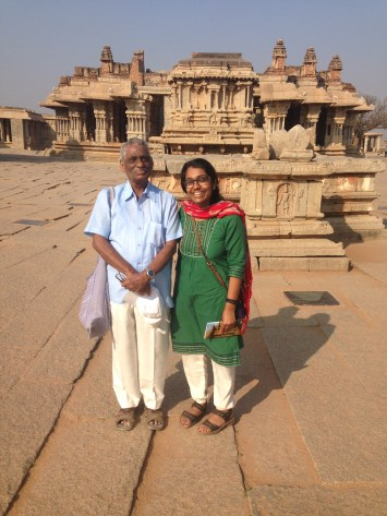 Tata and I in front of Vitthala temple complex