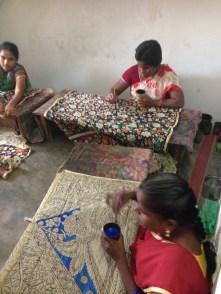 Kalamkari workshop in Sri Kalahasti