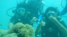 Scuba diving with Rachna!