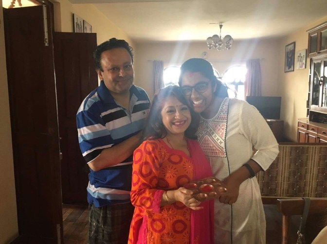 Celebrating New Year with Apekshya's parents