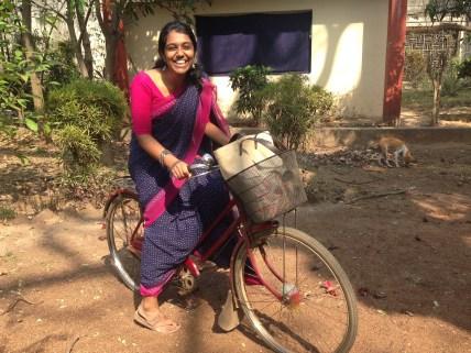 Cycling in sari