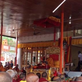 10 feet from the Dalai Lama