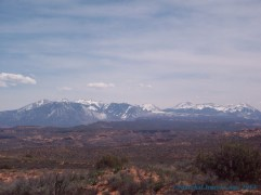 Even from Arches Nat'l Park you can see La Sal.
