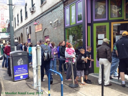 Apparently you have to have your timing right to visit Voodoo Doughnuts, because the line will be out the door in no time.