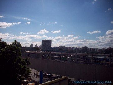 The view of Córdoba from the roof of the bus station
