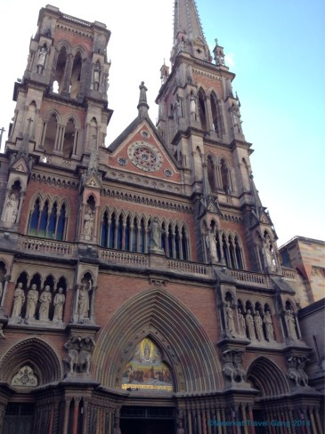 The creepy, weird cathedral with twisted gargoyles and tortured men.