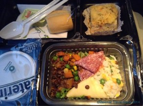Dinner served on the bus to Buenos Aires. Mostly gross, some parts inedible, some parts quite delicious. Instead of butter they provided a tub of corn oil... o.O At least we'd packed our own food :)
