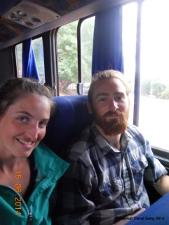 Sometimes we had seats on the bus, but not always.