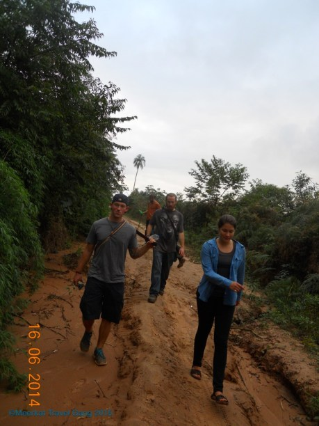 After our ride, we still had some uphill walking to go to get to Richie's community