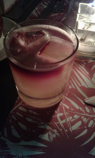 This was my NY sour, with a splash of Malbec wine...