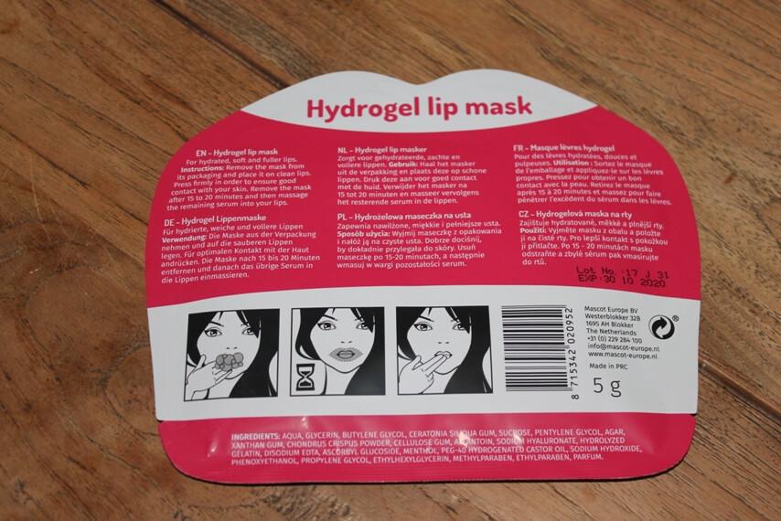Hydrogel lip mask