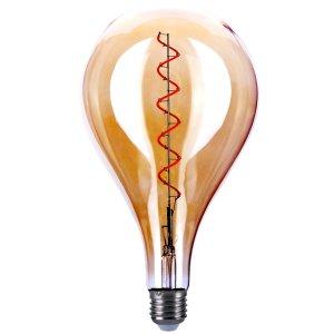 LED lamp XXL gloei spiraal 6W amber