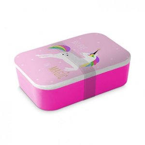 Lunchbox bamboe pink unicorn