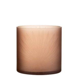 Waxinelichthouder blad bruin 20cm
