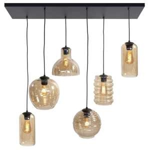 Hanglamp amber Fantasy 6 lichts