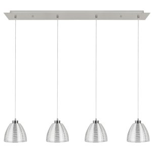 Hanglamp zilver Whires 4 lichts