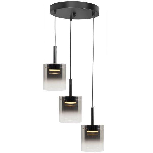 Hanglamp zwart Salerno 3 lichts