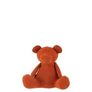 J-line deco beer oranje fluweel 14cm
